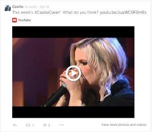 Coolio's tweet of Laura-Jayne's cover